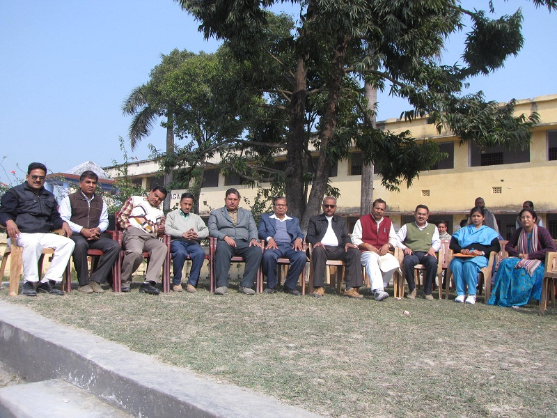 Group Photograph Of Principal And Other Faculty Members