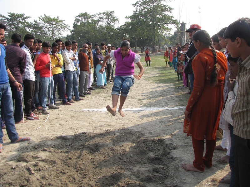 Students Enthusiastically Participating In Different Activities.