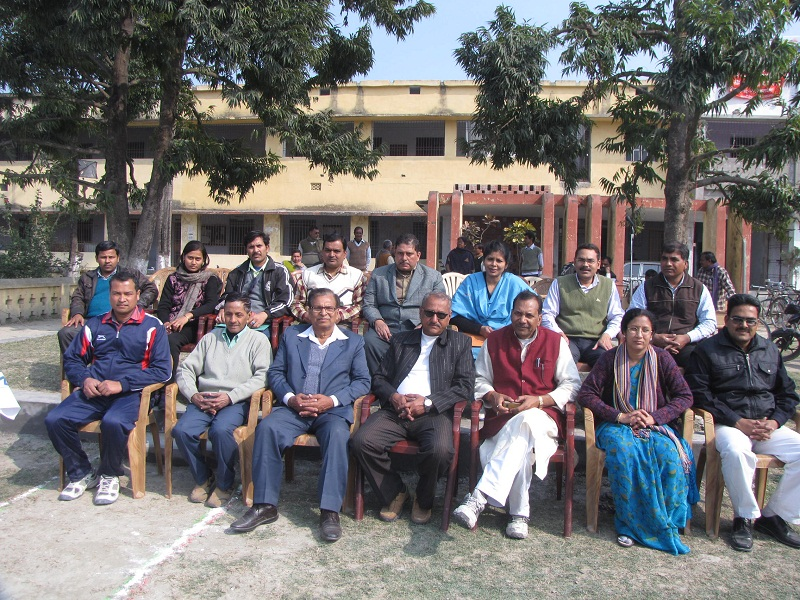 Group Photograph Of Teaching Staffs With Principal