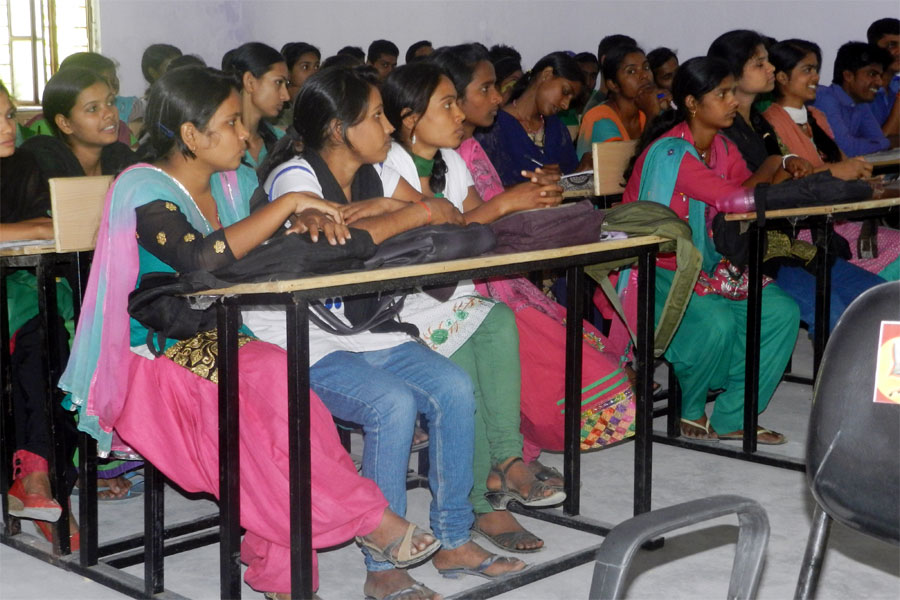 College Students On Seminar On